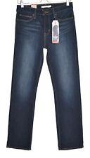 Womens Levis SLIMMING STRAIGHT LEG Dark Blue High Rise Stretch Jeans 10 W29 L30