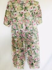 Vintage My Michelle Little Girls Floral Jumpsuit Pink/green Size 10