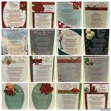 Christmas Graveside Memorial Remembrance Card Various Relations Weatherproof