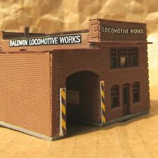 RETIRED ~ LOCOMOTIVE WORKS BUILDING by WALTHERS ~ Mayhayred Trains N Scale Lot