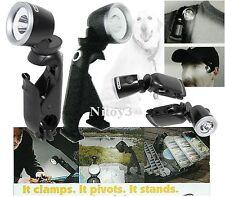 Blackfire LED Clamp Light-Flashlight & 2-Mini Clamplight Combo Pack 100 Lumens
