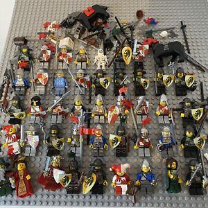 HUGE LEGO Vintage Modern Knights Kingdom Castle Minifigure Bundle Joblot Weapons