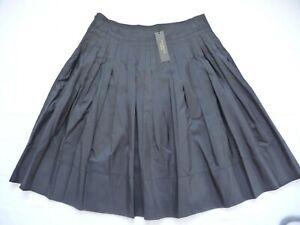 "Talbots NWT 8P $139 Skirt 100% Silk Black Pleated Pintucked 23"" Stunning"