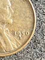 1950 D Wheat Penny Minor Error