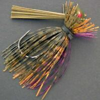 Bassdozer Arkey finesse flipping jig. 1/4 oz WATERMELON SUNFISH weedless jigs
