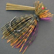 Bassdozer Arkey finesse flipping jig. 1/4 oz WATERMELON SUNFISH weedless jigs
