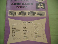 SAMS AUTO RADIO MANUAL(AR22) FIRST EDITION PRINTING-JANUARY 1964 AND EXTRA
