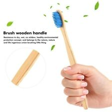 1 PCs Natural Bamboo Toothbrush Flat Handle Adult Teeth Whitening Soft Bristles