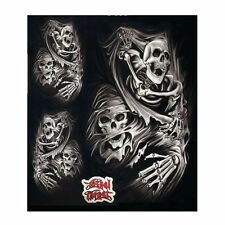 "Lethal Threat Ripping Skull Decal Sticker Car SUV 6"" x 8""  Pack of 2 US SELLER"