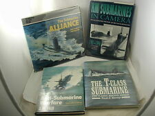 Submarines Lot 4 Books Anti-Submarine Warfare T-Class British History Alliance
