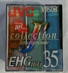 JVC TC-35 EHG 35 VHS-C Camcorder 3 Pack Tape Sealed NEW Never Used