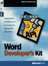 Microsoft Word Developer's Kit-Microsoft Press