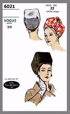 Vintage Vogue Millinery Designer Pillbox Hat Fabric material sew pattern #6021