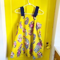 Anthropologie Maeve Womens Yellow Floral Sleeveless Babydoll Swing Dress Size XS