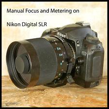 Nikon Digital fit Tamron 500mm F8 SP Mirror Lens CHECK DESCRIPTION Manual Focus