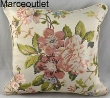 "Croscill Home Carlotta Collection 18"" X 18"" Decorative Pillow Gold Floral"