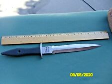 Vintage BLACKJACK Tartan Dirk Knife With Sheath. Japan 13 3/4 Inches Long. NICE.