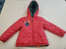 Disney Finding Dory Girl Jacket Size 4 Reversible Hooded Zip Front