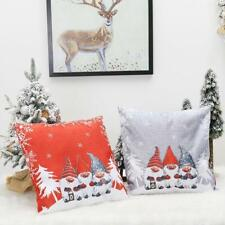4x Christmas Decoration Gnome Swedish Tomte Pillow Case Throw Sofa Cushion Cover