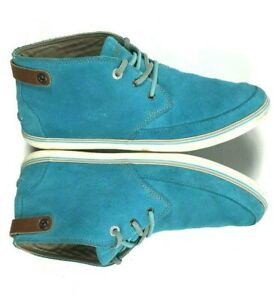 Lacoste Women's 8 M Shoes High Top Sneakers Suede Leather Turquoise Blue Clavel