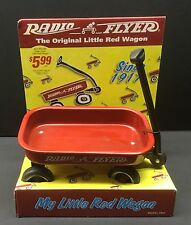 """ORIGINAL Red Radio FLYER Wagon My Little Red Wagon MODEL # 901 6"""" long bed 1998"""