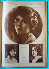 1923 Vintage Historical Photo Book NY Times - sports movie stars nature royalty