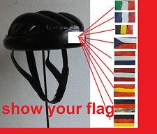 leather helmet Sturzring Sturzkappe Flagge Rennrad Initialen Nostalgie school 40