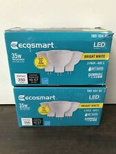 6-Pack Ecosmart LED Bright White GU5.3 Dimmable 35W 350 Lumens #1001654101 NEW!