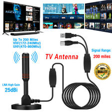 More details for dvb50 high gain freeview tv aerial-portable indoor/outdoor digital hd antenna uk