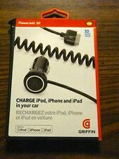 CAR CHARGER FOR iPod, iPhone and iPad CAR CHARGER NEW 10 WATT
