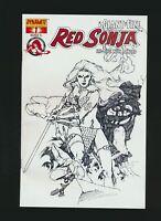 Red Sonja #1 Giant-Size, Black & White Variant Cover