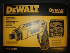 DEWALT DCF680N2 8V MAX Gyroscopic Screwdriver w/ 2 Li-Ion Batteries New