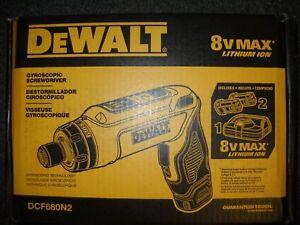DEWALT DCF680N2 8V MAX Gyroscopic Screwdriver w/ 2 Li-Ion Batteries New