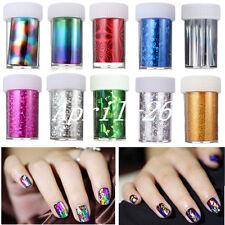 Rollos Mixta Papel Stickers Foil Transferencia Decoración Uñas Nail Art Manicura