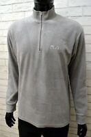 Maglione in Pile Grigio FILA Uomo Taglia 50 Pullover Felpa Sweater Man Cardigan