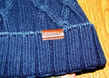 Kangol Headwear  Indigo Cable Beanie Pull On Hat Color Stone Wash