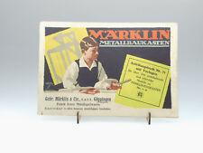 (81/436)Märklin Metallbaukasten Katalog 71 / Bauanleitung  von 1924