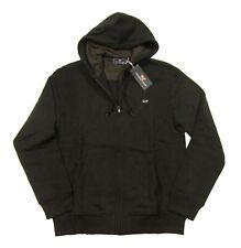 Vineyard Vines Men's Jet Black Basic Fleece Lined Full Zip Hoodie