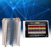 600Pcs/Lot 1/4W 1% Metal Resistor Kit 10Ω-1M 30 Values Resistors Each 20pcs
