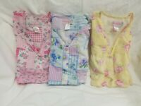 Lot 3 Moondance Womens Aprons Smock Multicolor Floral Sz Large Sleeveless Snaps