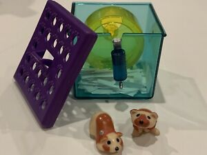 Littlest Pet Shop - Busy Hamsters with Jogging Wheel Toy Set 1993 Kenner LPS