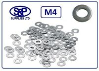 M4 (4MM / 4mm) STAINLESS STEEL WASHER FLAT WASHER DIN125A ST/STEEL A2 4mm