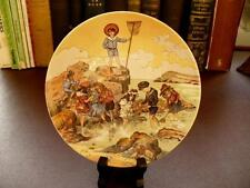 Vintage Poole Pottery Collector Plate - Children At Seaside - Emilie Rohida