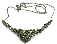 Vintage Silver & Marcastie Ladies Necklace / Pendant