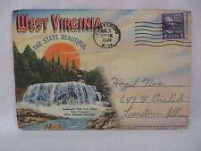 Vintage Postcard Folder Booklet West Virginia The State Beautiful 18 Views 1948