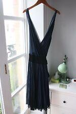 Navy Blue Silk Diane Von Furstenberg Wrap Dress, Size 12