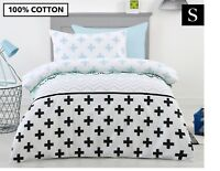 BELMONDO 100% COTTON 250TC KIDS ROAR SINGLE QUILT DOONA COVER SET + PILLOWCASE