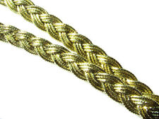 Metallic Gold Braid//Gimp Rope Uphostery//Haberdashery 6 mm Round Free UK P/&P