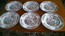 Johnson Brothers indian tree Set of 6 Large  Dinner Plates  Perfect Condition