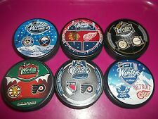 WINTER CLASSIC 6 PUCK LOT Dueling 2008 2009 2010 2011 2012 2014  RANGERS FLYERS
